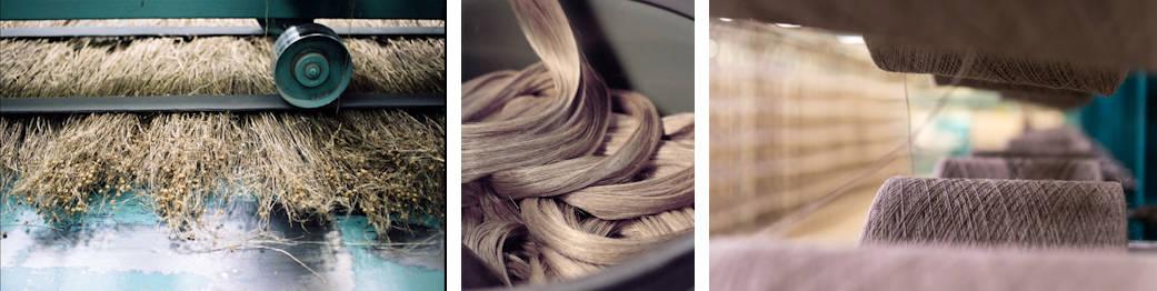 teillage, peignage et filature du lin