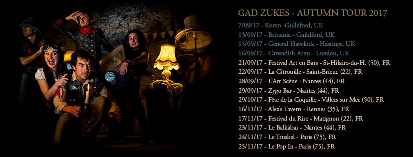 date Gad Zukes Automne 2017